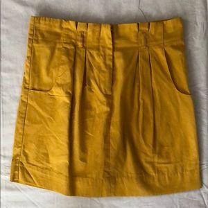 Topshop mustard yellow mini skirt